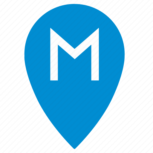gps, location, map, metro, point, pointer, station icon