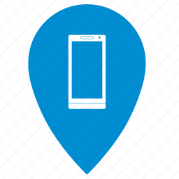 geo, mobile, phone, point, shop, smartphone, store icon