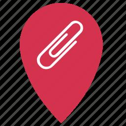clip, geo, office, point, shop, storem icon