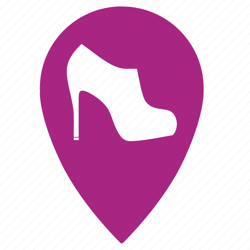geo, point, shoe, shoes, shop, shopping, store icon