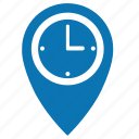 clocks, location, map, point, time, timer, watch icon