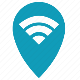 connection, free, geo, internet, point, web, wifi icon