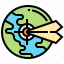 arrows, earth, location, pinpoint, target icon