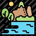 environment, scenery, landscape, lake, nature icon