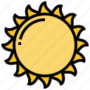 daylight, heat, solar, star, sun icon