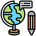 global, education, tool, geographic, model icon