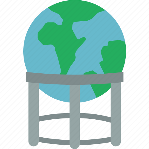 earth, geography, globe, map, stand icon