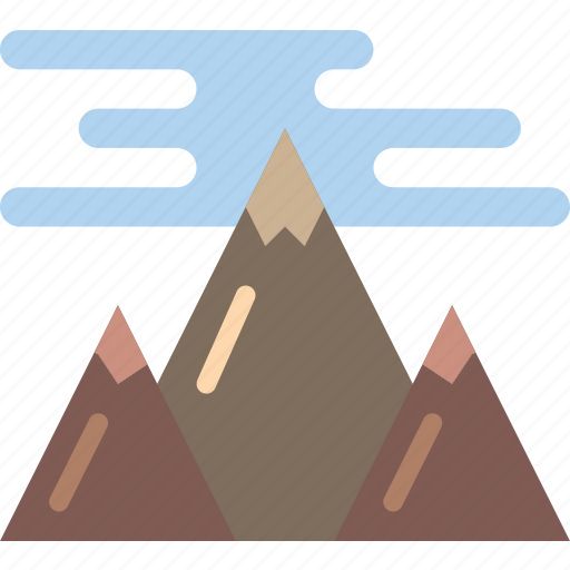 geography, hill, landscape, mountain, mountains icon