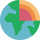 earth, geography, geosphere, global, globe icon
