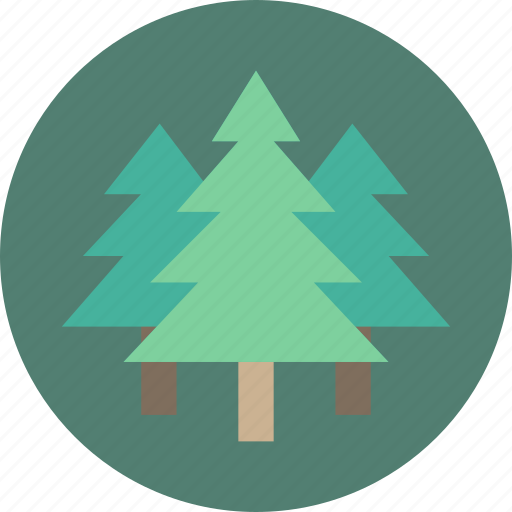 forest, garden, geography, tree, trees icon