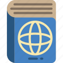 atlas, book, geography, map, place icon