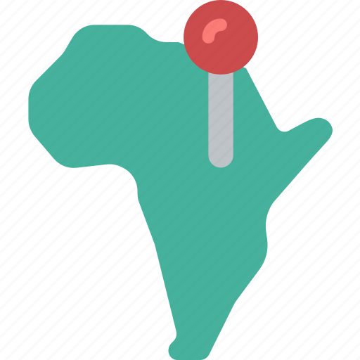 africa, flag, geography, national, pin icon