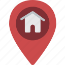 geography, home, location, map, pin icon
