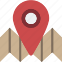 flag, geography, map, navigation, pin icon