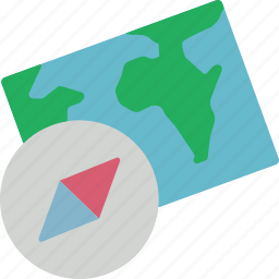 compass, geography, location, map, navigation icon