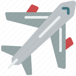 aeroplane, fly, geography, transport, travel icon