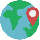 globe, pin, geography, map, location