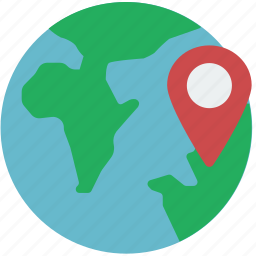 geography, globe, location, map, pin icon