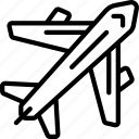 aeroplane, fly, geography, transport icon