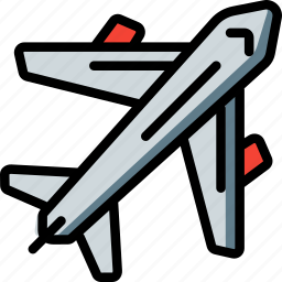 aeroplane, airplane, fly, geography, transport icon