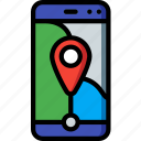 geography, map, phone, communication, location, smartphone