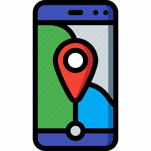 communication, geography, location, map, phone, smartphone icon