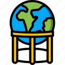 earth, geography, globe, stand, world icon