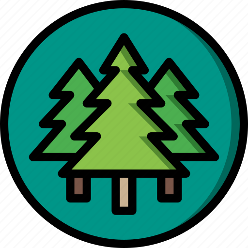 forest, geography, nature, tree, trees icon
