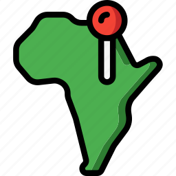 africa, country, geography, location, navigation icon