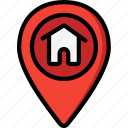 direction, geography, home, location, map, navigation icon