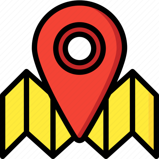 Map, pin, geography, navigation, location icon - Download