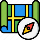 compass, geography, location, map, navigation, pin icon