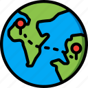 geography, globe, location, locations, map, pin icon