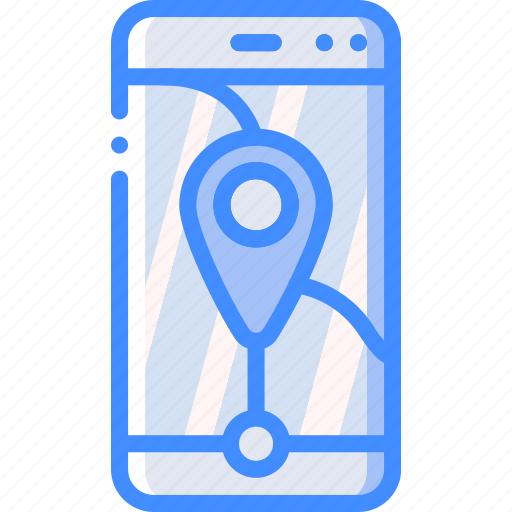 geography, map, phone, pin, smartphone icon