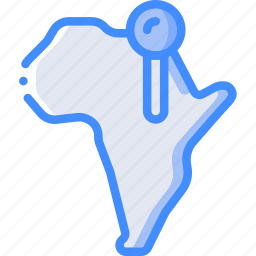 africa, country, geography, location, map icon