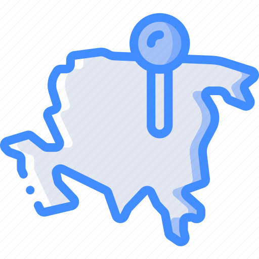 asia, country, geography, location, map icon