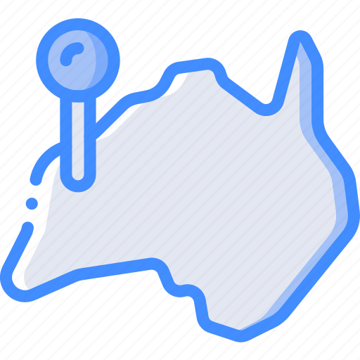 australia, country, geography, location, map icon