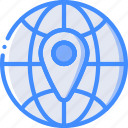 geography, globe, location, map, navigation, pin icon