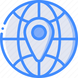geography, globe, location, map, navigation, pin icon