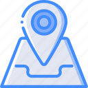 map, pin, geography, navigation, location, arrow