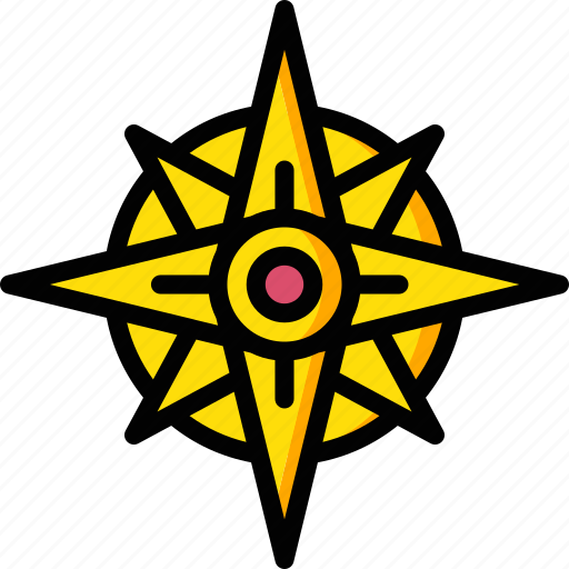 arrow, compass, direction, geography, navigation icon