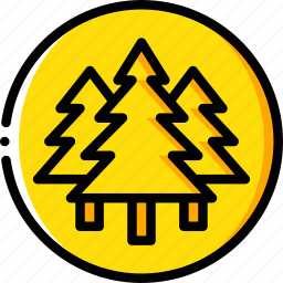 forest, garden, geography, nature, trees icon