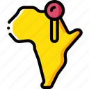 africa, geography, location, map, navigation icon