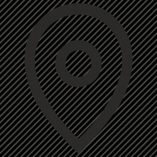 empty, geo, location, place, pointer icon