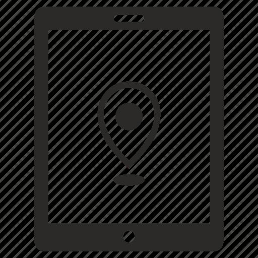 ipad, location, place, pointer icon