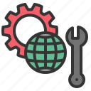 construction, earth, engineering, maintenance, survey icon