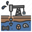 fossil, fuel, geology, petroleum, rig icon