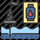 fuel, gas, industry, lpg, rig icon