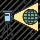 geodesy, measure, simulate, survey, tripod icon