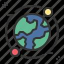 earth, global, orbit, satellite, worldwide icon